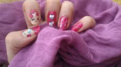 Sailor Chibi Chibi Moon inspired nail art by http://www.cob-callofbeauty.com/2013/06/sailor-chibi-chibi-moon.html