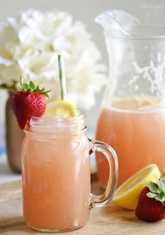 Make this refreshing homemade strawberry rhubarb lemonade as a way to cool off this summer! This is a fun, unique twist on traditional lemonade.