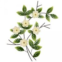 Set 4 White Flower Metal Wall Art $299.95