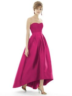 Alfred Sung D699 Bridesmaid Dress in Hot Pink