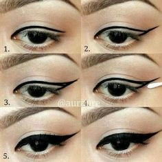 The eyeliner is a universal cosmetic means that is actual for a long time for any kind of makeup. Amazing Hacks For Perfect Winged Eyeliner Step By Step Eyeliner, Winged Eyeliner Tutorial, How To Apply Eyeliner, Winged Liner, Cat Eye Tutorial, Shirt Tutorial, Maquillaje Marilyn Monroe, Marilyn Monroe Makeup, Eyeliner Hacks