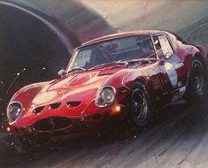 Fleetwood - Ferrari 250 GTO Original Acrylic 60 x 75cm £995.00