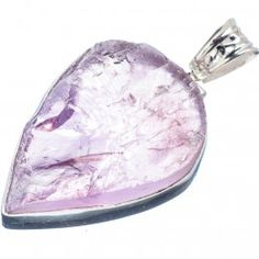 925 SOLID STERLING FINE SILVER  ROUGH AMETHYST PENDANT