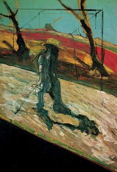 Francis Bacon, Study for a Portrait of Van Gogh II, 1957, huile sur toile, 165 x 122cm, Tate Gallery, Londres