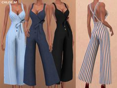 Jumpsuit with bowknot Created for: The Sims 4 7 colors Hope you like it! Download:TSR