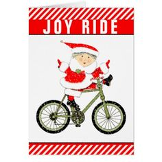 cyclist Christmas cards - Xmascards ChristmasEve Christmas Eve Christmas merry xmas family holy kids gifts holidays Santa cards