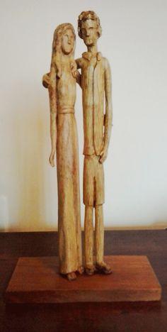 Escultura em madeira.  Amanda I.  #escultura #ArteBrasileira #entalhe #brazilianart #sculpture