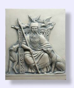 Odin, with Hughinn, Munnin, Gere and Freke.  Sleipnir is not shown here.  Odin has the best animal companions of any deity.
