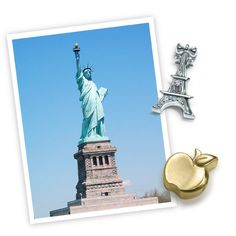 Happy 130th Anniversary to the #StatueofLiberty! 130 years ago today, this beautiful icon of freedom arrived in New York Harbor as a gift from France, which was designed by the same person that designed the Eiffel Tower: Gustave Eiffel! #thanksfrance #alexwoo #littleicons #eiffeltower #apple