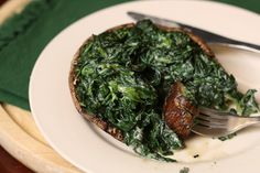 Spinach Stuffed Portabellas by ketchuptochutney: Healthy, light and delicious! #Portabella #Spinach #Healthy #Light