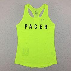 Nike Run Club Volt Pacer Issue Running Tank Top Shirt Singlet Women's Small S