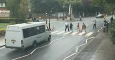 Abbey Road zebra crossing live feed lets you watch Beatles fans piss off motorists - Lists - Weird News - The Independent Iconic Album Covers, Zebra Crossing, Live Feed, Get Running, Weird News, Abbey Road, Pissed Off, London Calling, I Fall In Love