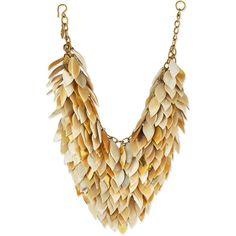 Ashley Pittman Tanzu Light Horn Layered Chain Leaf Necklace ($1,420) ❤ liked on Polyvore featuring jewelry, necklaces, light horn, chain necklace, layered chain necklace, multi layered necklace, hook necklace and mesh necklace