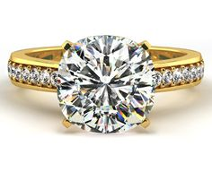 5.00 CARAT CENTER ROUND BRILLIANT CUT DIAMOND ENGAGEMENT RING