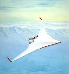 drawing of planned look of boeing 797 blended wing airliner