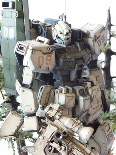 GM Sniper Type Cold District Custom Build with Diorama  by  Buddhistcycle  / Budd   a stunning model of an MG GM  The modeler used some part...