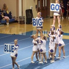 Cheer tip: A great way to increase your crowd involvement is to use signs! For tons of stunting tips, check out CheerleadingInfoCenter.com