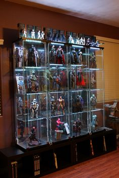 comic book statue custom built in cabinets google search shelf ideas pinterest. Black Bedroom Furniture Sets. Home Design Ideas