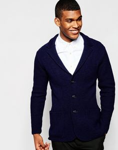 Check these out United Colors of Benetton Knitted Blazer in Slim Fit - Navy  - http