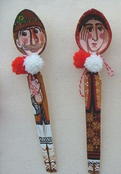 creativitatea in viata ta: Linguri de lemn pictate Wooden Spoon Crafts, Wooden Spoons, Christmas Crafts For Kids, Christmas Ornaments, Diy And Crafts, Arts And Crafts, Wooden Spatula, Diy Kitchen Decor, Modern Cross Stitch