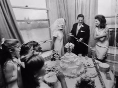 Another one new to me! Looks like someone's got a sword preparing to cut a wedding cake. Likely Lee in the middle with Caroline and her brother and Radziwill cousins on the left.