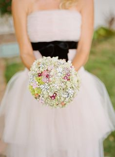 Deposit on a spring flower jeweled bouquet -- made-to-order wedding bridal bouquet. $175.00, via Etsy.