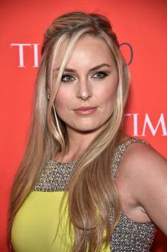 Lindsey Vonn Half Up Half Down - Lindsey Vonn looked enchanting wearing this half-up hairstyle at the Time 100 Gala.