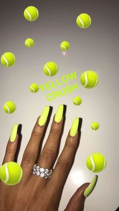Nails come in many different colors nowadays. Make yours unique & beautiful. Nails come in many different colors nowadays. Make yours unique & beautiful. Best Acrylic Nails, Acrylic Nail Designs, Tumblr Acrylic Nails, Aycrlic Nails, Manicure, Neon Nails, Neon Green Nails, Matte Nails, Black Nails