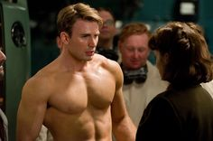 These GIFs Of Chris Evans Pretending He Can't Do A Push-Up Are So Important