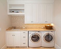 A small laundry room can be a challenge to keep laundry room cabinets functional, yet since this laundry room organization space is constantly in use, we have some inspiring design laundry room ideas. Laundry Room Storage, Utility Room, Room Design, Laundry Mud Room, Pantry Laundry Room, Room Remodeling, Utility Rooms, Room