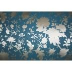Reflections Scenic Garden Silhouette Wallpaper, Blue/Gold
