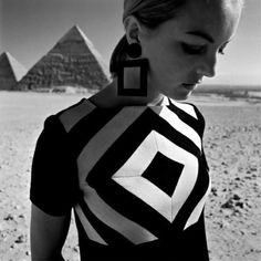 "1966, Gizeh, Egypt.""Op Art-Fashion"". Photo by FC Gundlach (B1926)"