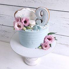 Идеальное сочетание розового и голубогоНа 9 месяцев малышки ☺️✨//#lavender_cake