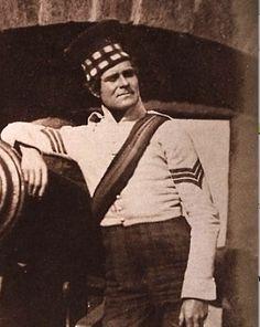 Sergeant, 92nd Highlanders. Edinburgh Castle, circa 1845. DETAIL (Adams)
