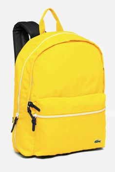 #Lacoste #yellow backpack