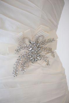 Wedding Gown Sash Bridal Gown Sash Rhinestone by PowderBlueBijoux, $149.00