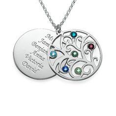 Family Tree Necklace - Filigree Birthstone | MyNameNecklace