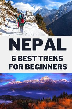 This is a complete guide for easy beginners treks in Nepal. Find out more about the trek routes, heights, difficulty levels, and region. These top 5 treks are designed for non-trekkers in Nepal.  #Nepal #Mountainn #Asia #AsiaTravel #Trekking #Backpacking #TreksinNepal #NepalTrekking #TrekkingNepal #MountEverest #GlobalTravel #travel #BestTreks #TopTrekkingPlaces