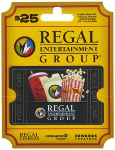 Regal Entertainment Gift Card $25: Amazon.com: Gift Cards