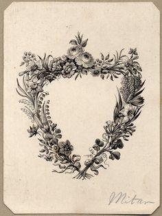 "heracliteanfire: "" Vignette. Perkins & Heath, 1829-1835. (via British Museum) """