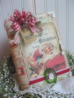 Santa's Naughty and Nice Altered Book