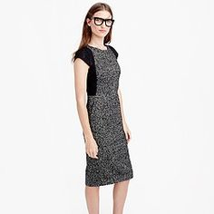 Pre-order Tall tweed sheath dress with lace