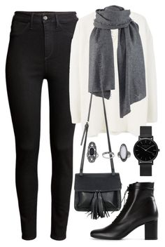 """""""Untitled #1705"""" by elizabethwhitehead ❤ liked on Polyvore featuring H&M, MANGO, Chicnova Fashion, Yves Saint Laurent, Topshop, women's clothing, women's fashion, women, female and woman"""