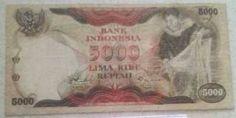Uang kertas kuno 5000 rupiah tahun 1975   http://jubel-uang.blogspot.com/2014/10/uang-kertas-kuno-5000-rupiah-tahun-1975.html