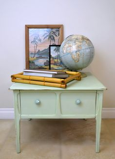 Mersman Chalk Painted Side Table