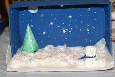 Ideias Giras: Dioramas de Inverno