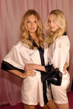 Romee Stridj & Maud Welzen - Victoria's Secret '14