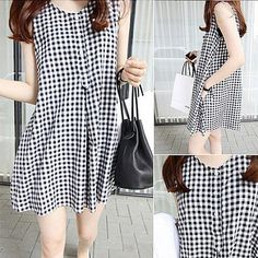 Shop for Maternity Clothes - FREE Worldwide Shipping available! Tank Dress, Dress Skirt, Maternity Clothes Online, Korean Fashion Street Casual, Clothes For Pregnant Women, Plaid Fashion, Maternity Wear, Dresses For Sale, Casual Dresses