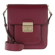 f6a7d1af3e8f7 Michael Kors LG NS Messenger Bag Mulberry in rot