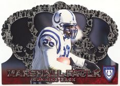 Marshall Faulk # 120 - 1996 Pacific Crown Royale Football - Silver Football Cards, Nfl Football, Marshall Faulk, Mint, Crown, Silver, Soccer Cards, Corona, Crowns